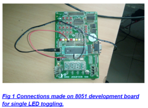 LED Interfacing with 8051 Microcontroller with Circuit